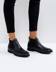 Selected Chelsea Leather Boot Black