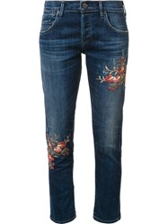 Citizens Of Humanity Embroidered Flower Jeans Blue