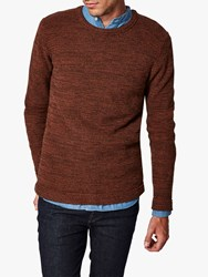 Selected Homme Organic Cotton Knitted Jumper Brown