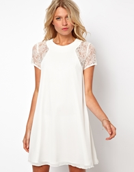 Love Swing Dress With Lace Insert