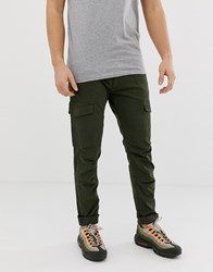 Blend Of America Cargo Trousers In Khaki With Pockets Green