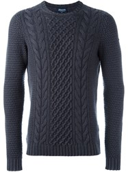 Drumohr Cable Knit Jumper Grey