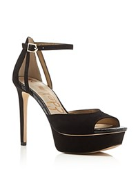 Sam Edelman Kayde Peep Toe Platform High Heel Sandals Black