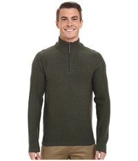 Royal Robbins Fireside Wool 1 4 Zip Sweater Mangrove Green Men's Sweater