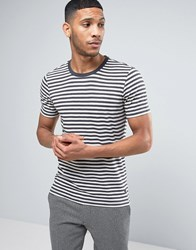 Casual Friday Striped T Shirt White