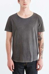 Bdg Standard Fit Pigment Dyed Wide Neck Tee Chocolate