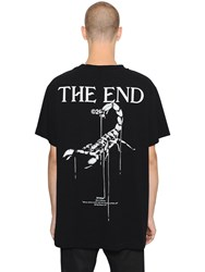 Off White Othelo Printed Cotton Jersey T Shirt