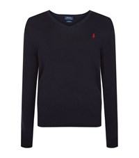 Polo Ralph Lauren V Neck Cotton Jumper Male Navy