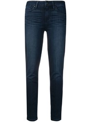 Paige Cropped Skinny Jeans Blue