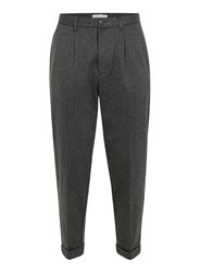 Selected Homme Grey Pinstripe Smart Trousers