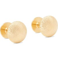 Alice Made This James Brushed Gold Plated Cufflinks
