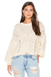 Wildfox Couture Solid Sweater Ivory