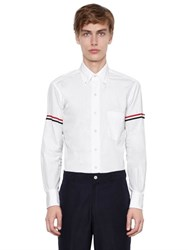 Thom Browne Cotton Oxford Shirt W Striped Arm Bands