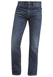 Tom Tailor Denim Atwood Straight Leg Jeans Dark Stone Wash Denim Grey Denim