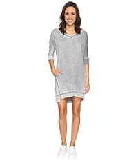 Allen Allen 3 4 Dolman Sleeve V Neck Dress Rain Women's Dress Navy