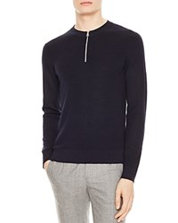 Sandro Cypher Zip Sweater Navy Blue