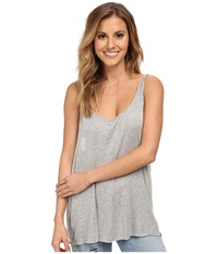 Hurley Solid Riot Twisted Strap Tank Top Heather Grey Women's Sleeveless Gray