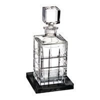 Waterford Cluin Square Decanter With Marble Coaster