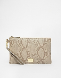 Marc B Leanne Zip Pouch Cutch With Wristlet Molesnake