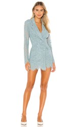 Donna Mizani Dixon Mini Dress In Blue. Sea Foam