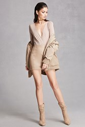 Forever 21 Pointed Faux Suede Boots Taupe