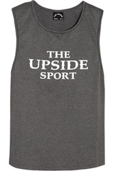 The Upside Rissa Printed Stretch Jersey Tank Gray