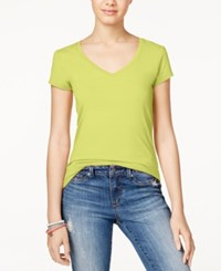 Energie Juniors' Mila V Neck Tee Elfin Yellow