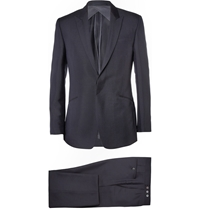 Kilgour Navy Mohair And Wool Blend Suit Blue