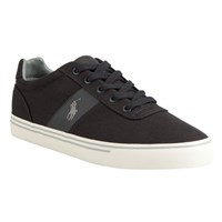 Ralph Lauren Polo Hanford Canvas Trainers Dark Carbon Grey