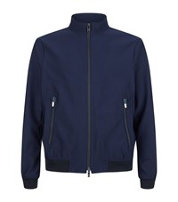 Armani Collezioni Textured Bomber Jacket Male Navy