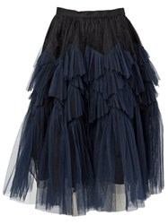 Dries Van Noten 'Swing' Skirt Blue