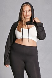 Forever 21 Plus Size Hooded Crop Top