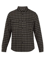 A.P.C. Checked Wool Blend Shirt Grey Multi