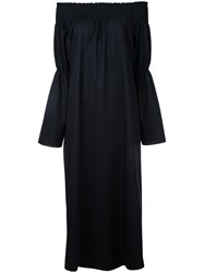 H Beauty And Youth Off Shoulder Belted Jumpsuit Black