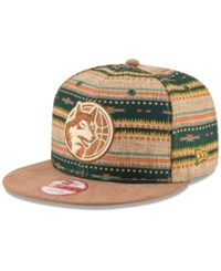 New Era Minnesota Timberwolves The Natural Print 9Fifty Snapback Cap Assorted Tan