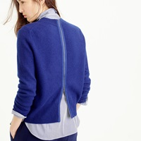 J.Crew Wool Back Zip Sweater