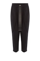 Rick Owens Men Cotton Harem Pants Black