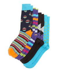 Neiman Marcus Four Pair Wardrobe Sock Set Asst