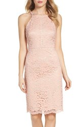 Vince Camuto Women's Lace Sheath Dress Peach