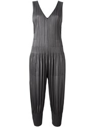 Issey Miyake Pleats Please By Sleeveless Pleated Jumpsuit Grey