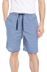 Nordstrom Shop Poplin Lounge Shorts Blue Kentucky Gingham