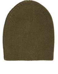 Barneys New York Shaker Stitched Slouchy Hat Green