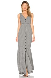 Marissa Webb Judith Gingham Maxi Dress Black