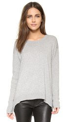 Wilt Big Back Slant Solid Sweater Grey Heather