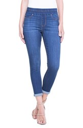 Liverpool 'S Jeans Company Zoe Pull On Rolled Cuff Crop Jeans Elysian Dark