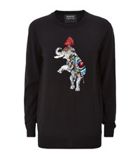Markus Lupfer Sequin Circus Elephant Natalie Sweater Female