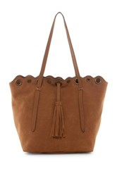 T Shirt And Jeans Grommet Tote Brown