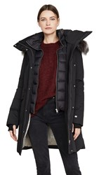 Soia And Kyo Emele Jacket With Faux Fur Trim Black
