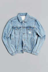 Calvin Klein X Uo Re Issue Denim Trucker Jacket Light Blue
