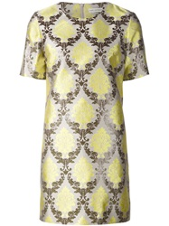 Mary Katrantzou 'Damask' Shift Dress Yellow And Orange